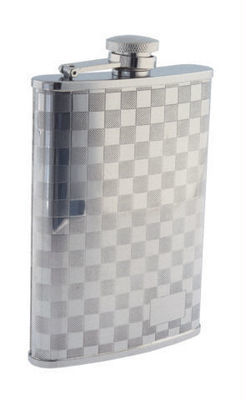 CHECKERBOARD 8 OZ. FLASK  #508