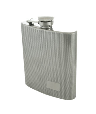 DIAMOND PATTERN 9 OZ. FLASK  #509
