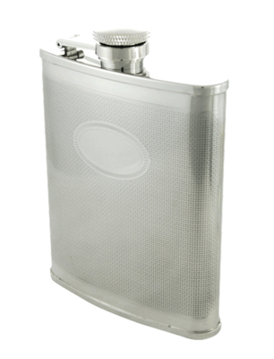 BASKET WEAVE 6 OZ. FLASK  #406