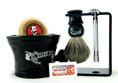 DE SHAVE SET 6PC. with Blk Multi Function Stand #296
