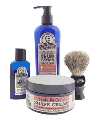 SANTA FE CEDAR 4PC SHAVE KIT with Cream & Brush #4011