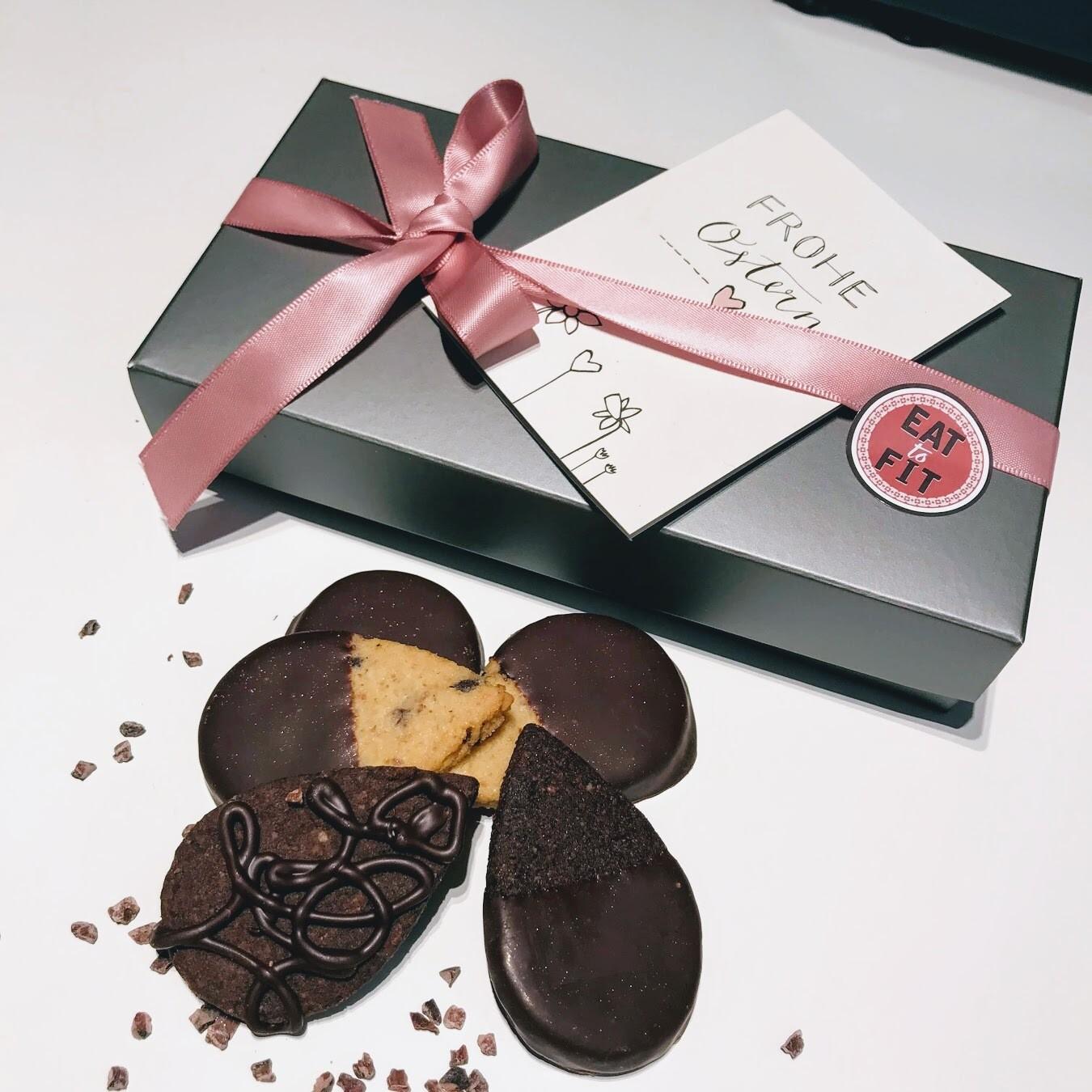 Keks Me UP! Low Carb und Zuckerfreie Kekse. Box 16er (einzeln verpackt) Vanille und Kakao