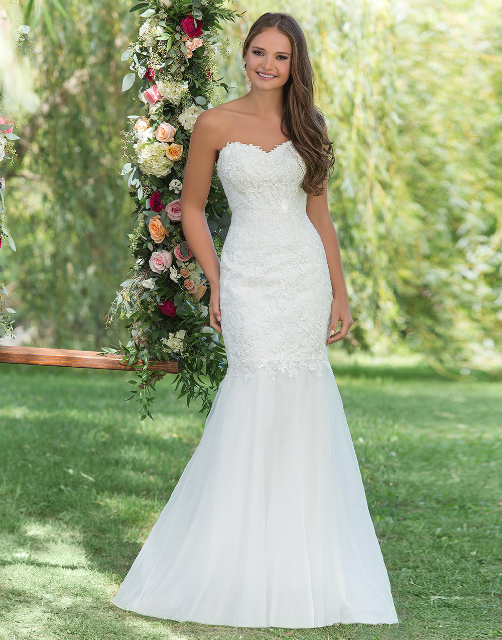 Sweetheart Gowns Beaded Lace and Organza Mermaid Gown | Wedding ...