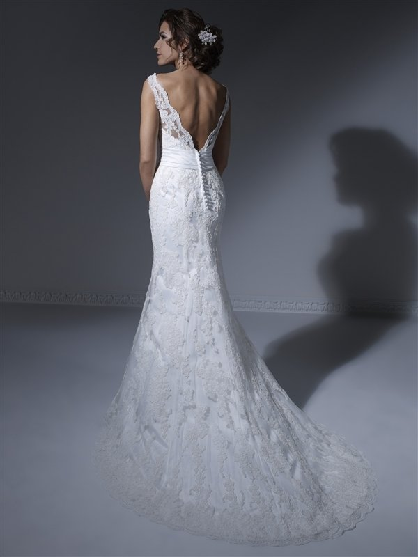 Private Collection Alencon Lace Wedding Gown | Wedding Gowns | Store ...
