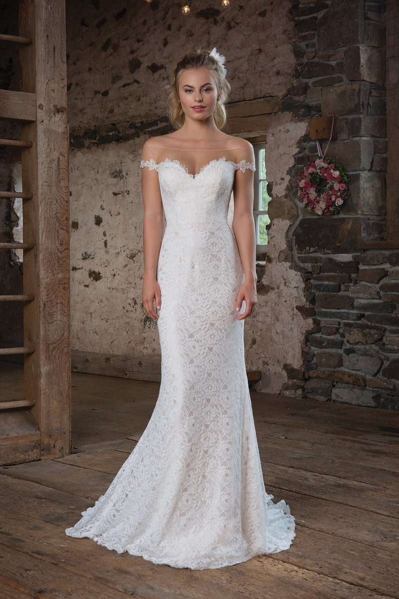 Sweetheart Gowns Allover Lace Fit and Flare Wedding Gown | Wedding ...