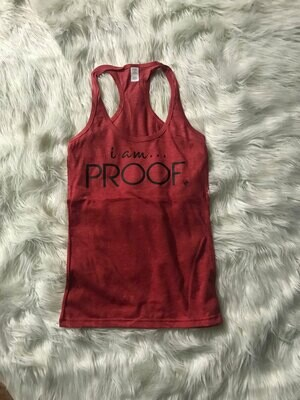 Racerback Tank - Heather Red