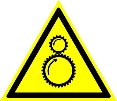 W29 Осторожно! Возможно затягивание между вращающимися элементами