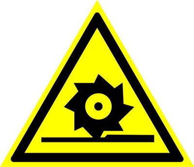 W22 Осторожно! Режущие валы