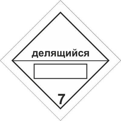 Радиоактивные материалы. Делящийся материал класса 7