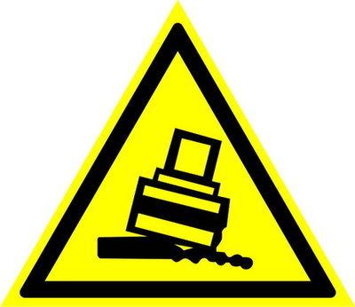 W24 Осторожно! Возможно опрокидывание