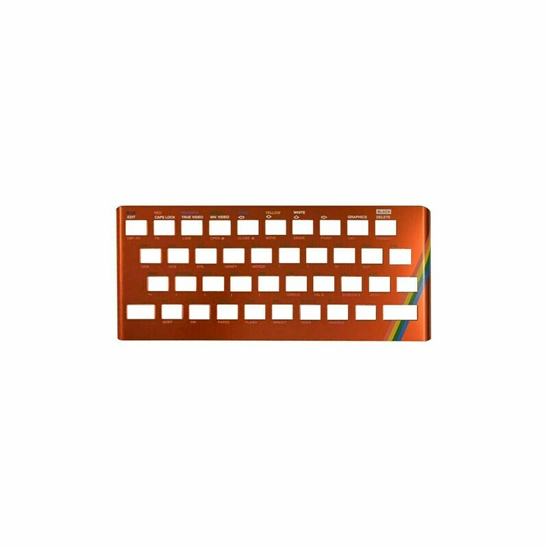 ZX Spectrum 16k/48k keyboard replica cover plate (faceplate) Metallic Red