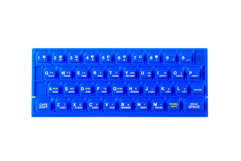 ZX SPECTRUM 16k/48k keyboard mat Blue