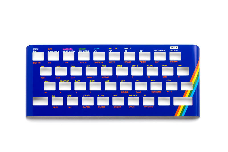Zx Spectrum 16k/48k keyboard replica cover plate (faceplate) blue