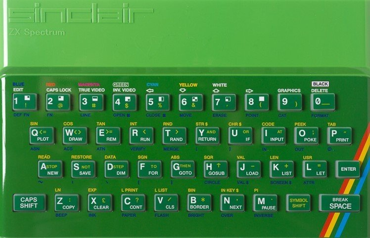 ZX SPECTRUM Replacement Case Green