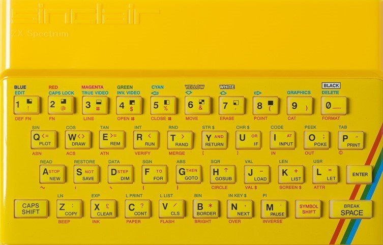 ZX SPECTRUM Replacement Case Yellow