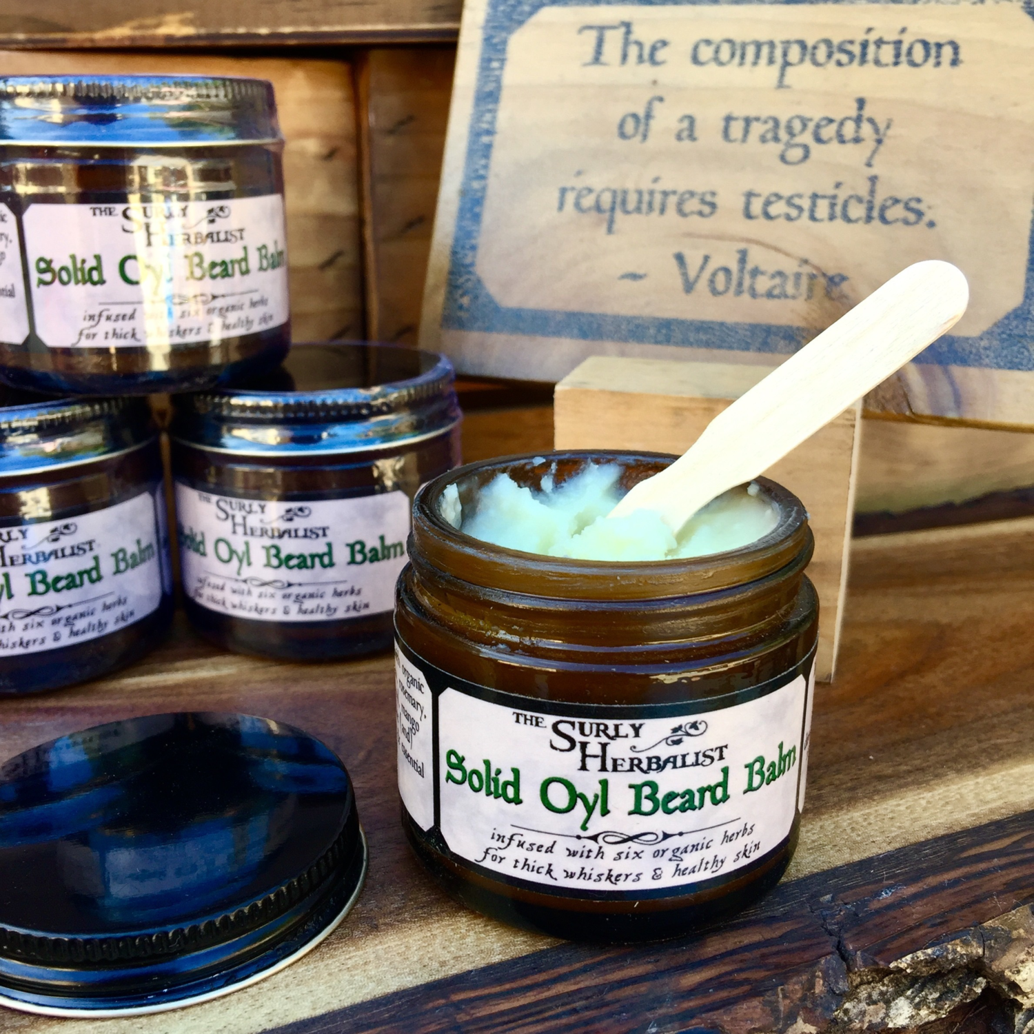 Solid Oyl Beard Balm - Blackbeard