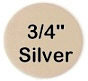 """Small Silver .7"""" circle"""