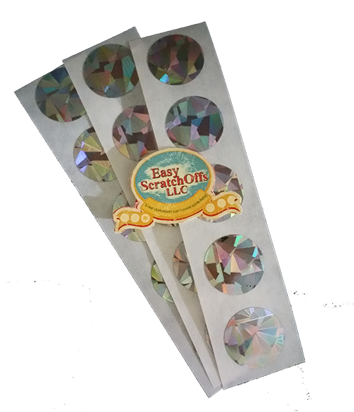 Small hologram scratch off stickers
