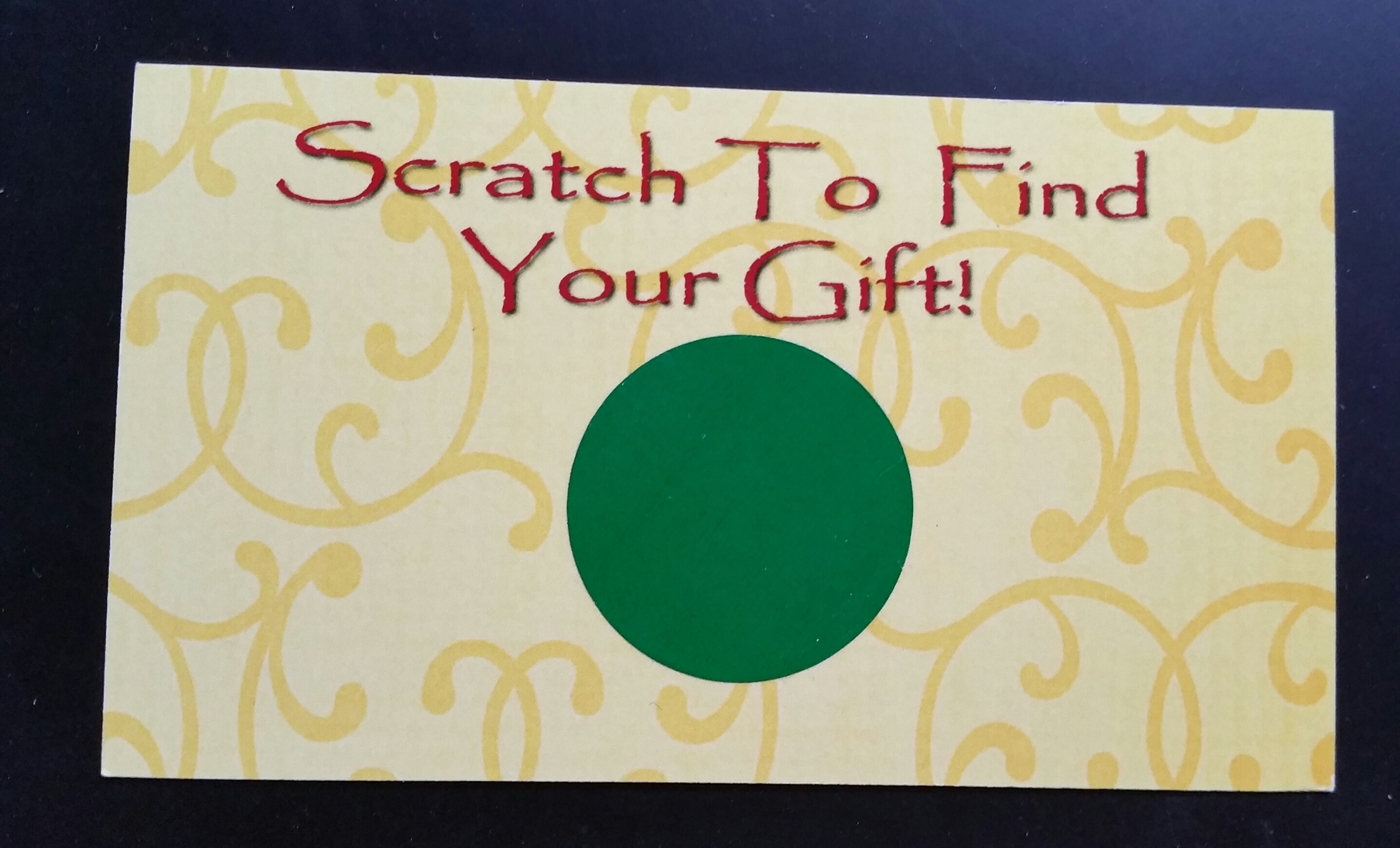 Scratch To find your gift
