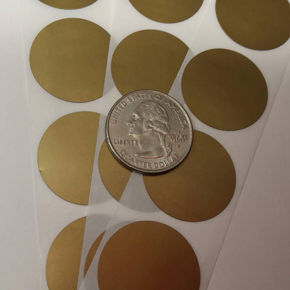 Gold Scratch Off stickers