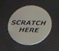 """Scratch Here"" scratch off stickers- silver, gold and hologram 00051"