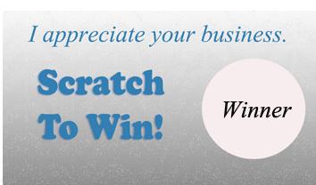 Business Appreciation Scratch off Template