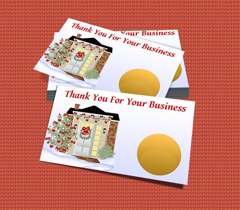 Holiday appreciation scratch off card