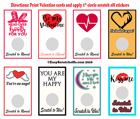 Valentine Scratch off Card bundle 778