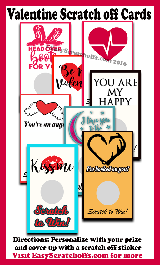 Valentine scratch off card printables