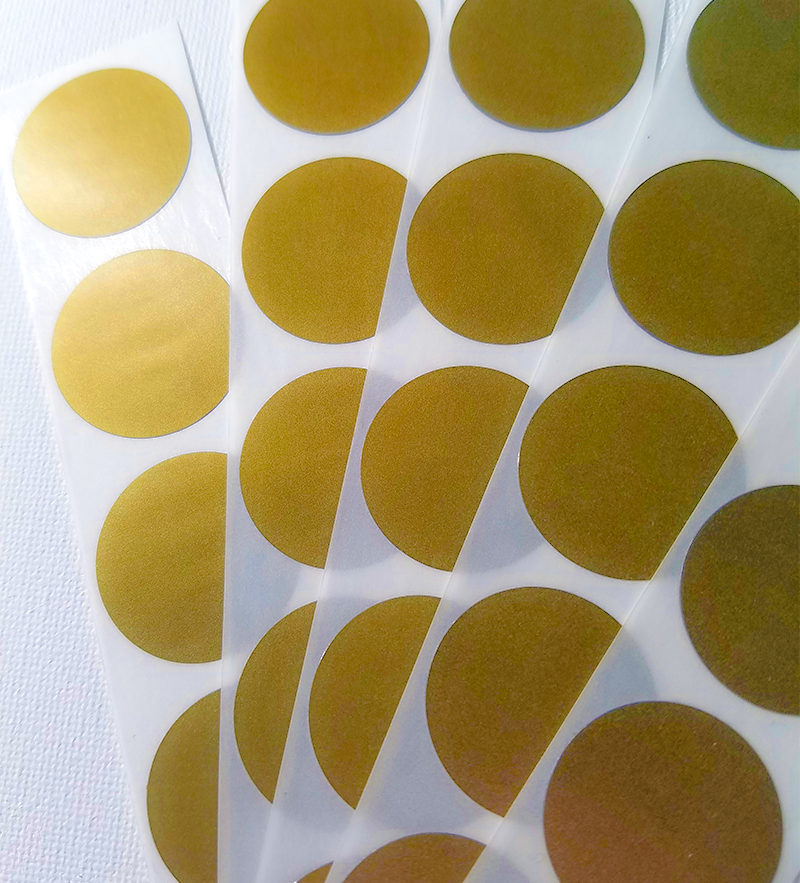 Gold scratch off stickers