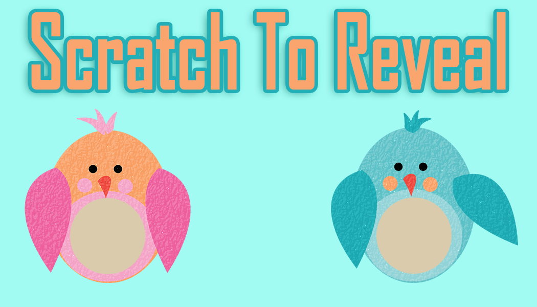 Gender Reveal scratch off template-birdies