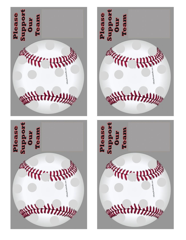 Baseball Fundraiser Scratch and Win Scratch off Template