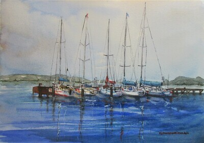 Safe Moorings - Art4Bushfire Appeal