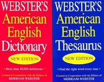Webster's American English Thesaurus and Dictionary Set