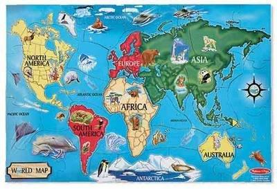 World Map Floor Puzzle (33 pc)