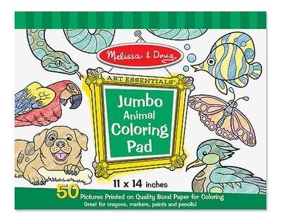 Jumbo Coloring Pad - Blue (11